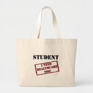 Uninsured Student Large Tote Bag
