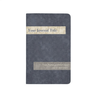 Union Blue, Ivory and Gray - Personalized Journal