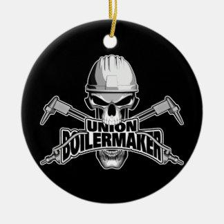 Union Boilermaker: Welding Skull Christmas Ornament