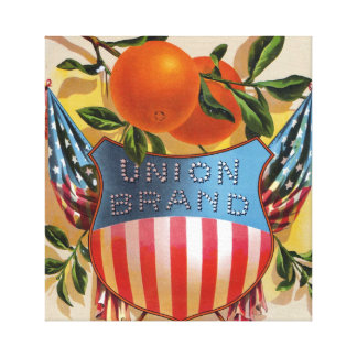Union Brand California Orange Crate Label Canvas Print