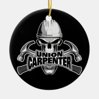 Union Carpenter: Skull and Hammers Christmas Ornament