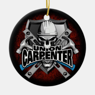 Union Carpenter Skull Christmas Ornament