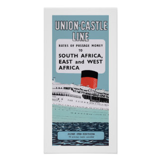 Union Castle Line Illustration Poster