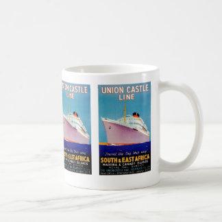 Union Castle ~ The Big Ship Way Basic White Mug