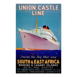 Union Castle ~ The Big Ship Way Poster
