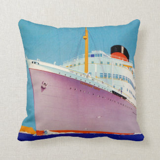 Union Castle ~ The Big Ship Way Throw Pillow
