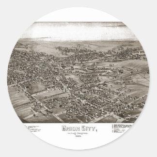 Union City Erie County Round Sticker