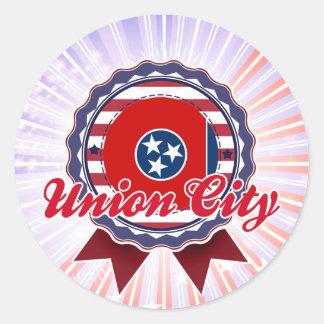 Union City, TN Round Stickers