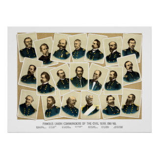 Union Commanders of The Civil War Poster