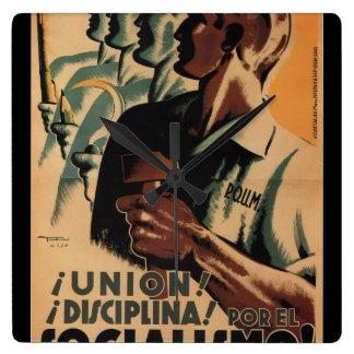 Union! Discipline! For socialism_Propaganda Poster Wallclock