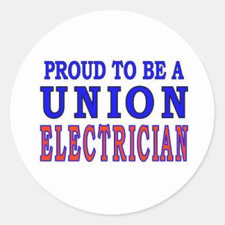 UNION ELECTRICIAN CLASSIC ROUND STICKER