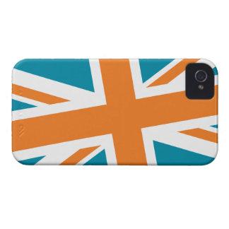 Union Flag Blackberry Case (Teal/Orange)
