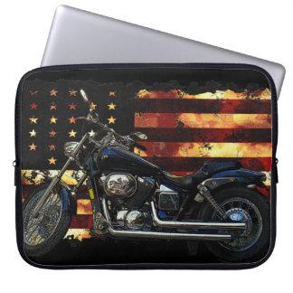 Union Flag, Civil War, Motorcycle, Hog Laptop Sleeves