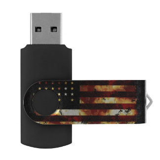 Union Flag, Civil War, Stars and Stripes Swivel USB 2.0 Flash Drive