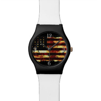 Union Flag Civil War Stars and Stripes USA Wristwatches
