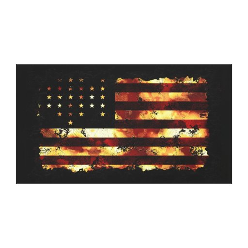 Union Flag, Civil War, Stars & Stripes, USA Stretched Canvas Print