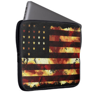 Union Flag, Civil War, Stars & Stripes, USA Laptop Computer Sleeve