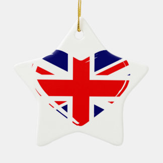 Union Flag Heart Christmas Ornament