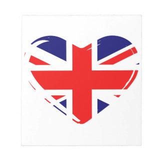 Union Flag Heart Notepad