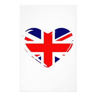 Union Flag Heart Stationery