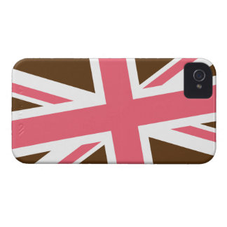 Union Flag iPhone Case (Brown/Pink)