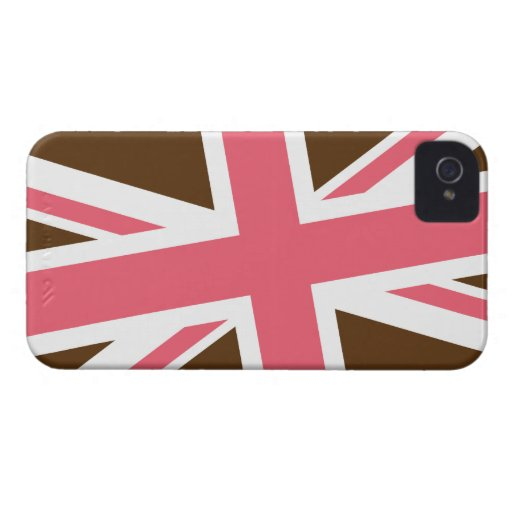 Union Flag iPhone Case (Brown/Pink) Case-Mate iPhone 4 Cases