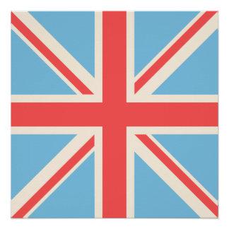 Union Flag/Jack Design Cream, Light Blue & Red