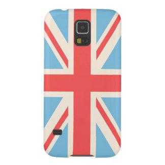 Union Flag/Jack Design Cream, Light Blue & Red Galaxy S5 Case