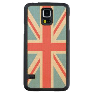 Union Flag/Jack Design Cream, Light Blue & Red Maple Galaxy S5 Case