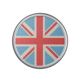 Union Flag/Jack Design Cream, Light Blue & Red Bluetooth Speaker