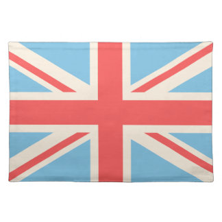 Union Flag/Jack Design Cream, Light Blue & Red Placemat