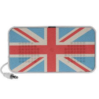 Union Flag/Jack Design Cream, Light Blue & Red Speaker System