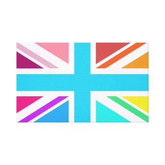 Union Flag/Jack Design - Multicoloured Canvas Print