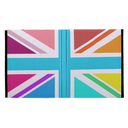 Union Flag/Jack Design - Multicoloured iPad Folio Covers