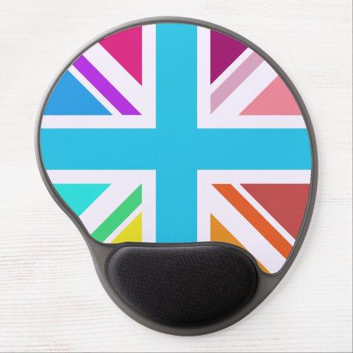 Union Flag/Jack Design - Multicoloured Gel Mouse Mats
