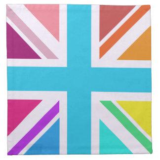 Union Flag/Jack Design - Multicoloured Napkin
