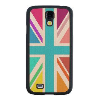 Union Flag/Jack Design – Multicoloured Maple Galaxy S4 Case