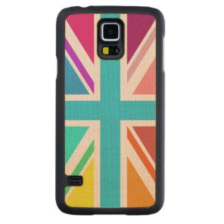 Union Flag/Jack Design – Multicoloured Maple Galaxy S5 Case