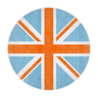 Union Flag/Jack Design Orange White & Blue Cutting Board