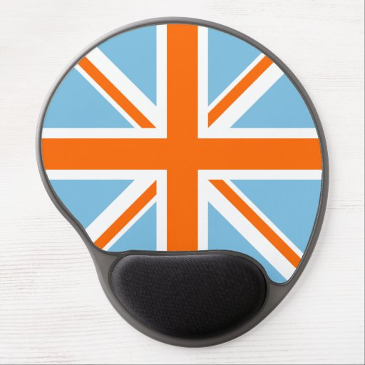 Union Flag/Jack Design Orange White & Blue Gel Mouse Pad