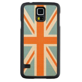 Union Flag/Jack Design Orange White & Blue Maple Galaxy S5 Slim Case