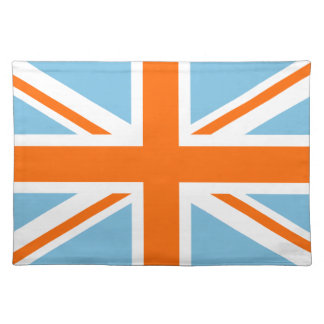 Union Flag/Jack Design Orange White & Blue Placemat