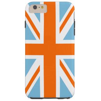 Union Flag/Jack Design Orange White & Blue Tough iPhone 6 Plus Case