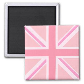 Union Flag/Jack Design - Pink Square Magnet