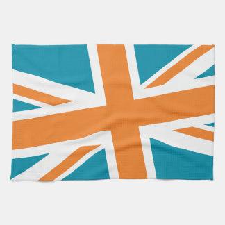 Union Flag Kitchen Towel (Teal/Orange)