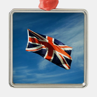 Union Flag Silver-Colored Square Decoration