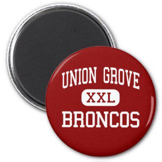 Union Grove - Broncos - High - Union Grove Refrigerator Magnet