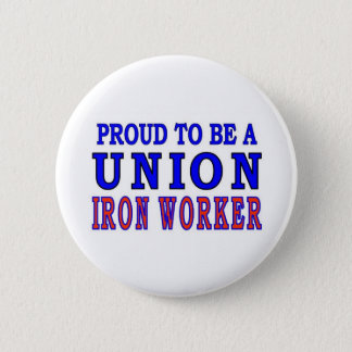 UNION IRON WORKER 6 CM ROUND BADGE
