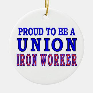 UNION IRON WORKER CHRISTMAS ORNAMENT