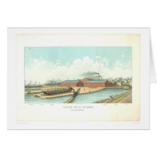Union Iron Works in San Francisco (1801A) Greeting Card